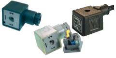 Magnetventilstecker, Gerätestecker, Ventilsteckdosen, Bauform A, mit und ohne Kabel, DIN EN 175301-803 (DIN 43650)