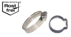Schlauchschellen & Schlauchklemmen aus Edelstahl - Bandbreite bis 12mm - Spannbereich bis 190mm