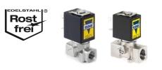 Edelstahl Magnetventile für Gase, Druckluft, Wasser sowie andere neutrale und aggressive Flüssigkeiten und Gase