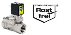 Magnetventile aus Edelstahl - Anschluß 1/8 bis 1 Zoll - Druckbereich bis 50 bar
