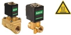 Heißwasserventile - Magnetventile für Heißwasser- und Dampf - Mediums-Temperaturen bis +180°C - Anschluß 1/4 bis 1 Zoll - Druckbereich bis 30 bar