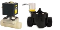 Magnetventile aus Kunststoff - Anschluß 1/8 bis 2 Zoll, Schlauchstutzen, Schlauchtülle, Schlauchkupplung und Cartridge