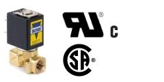 Magnetventile mit UL- und/oder CSA-Zertifizierung/ Zulassung - Anschluß 1/8 bis 1 Zoll, Flansch - Druckbereich bis 30 bar