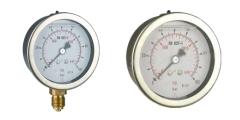 Glyzerinmanometer aus Edelstahl, axial/waagerecht und radial/senkrecht, 63mm