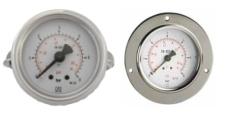 Manometer aus Stahl, für Fronttafeleinbau, 40-50-63 mm