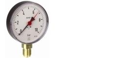 Manometer aus Stahl, Standardausführung, radial/senkrecht, 80-100 mm