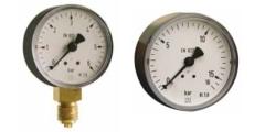 Manometer aus Kunststoff, Standardausführung, axial/waagerecht und radial/senkrecht, 40-50-63 mm
