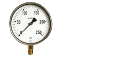 Manometer aus Edelstahl, Industrieausführung, radial/senkrecht, 100mm