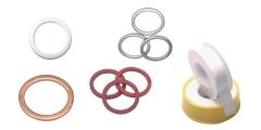 Dichtungen, Dichtringe und Dichtband aus PVC, Kupfer, Aluminium, PTFE, Polyamid, Elastomer