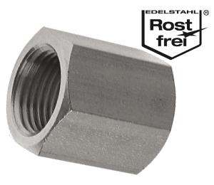 """Edelstahl Muffe Werkstoff 1.4571  1/"""" Gewinde Gewinde-Fitting"""